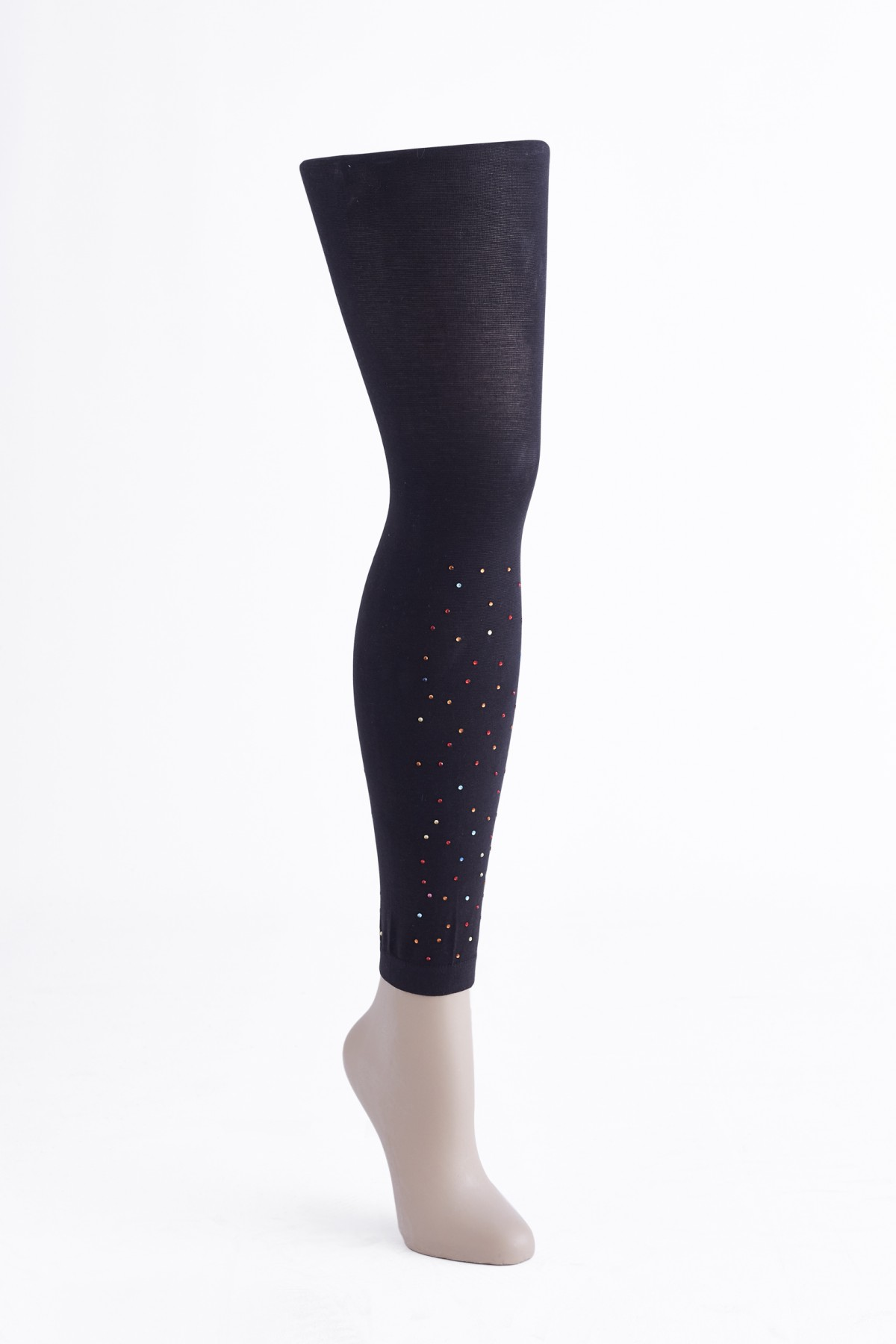 120 DEN COTTON WOMAN LEGGING WITH STRASS