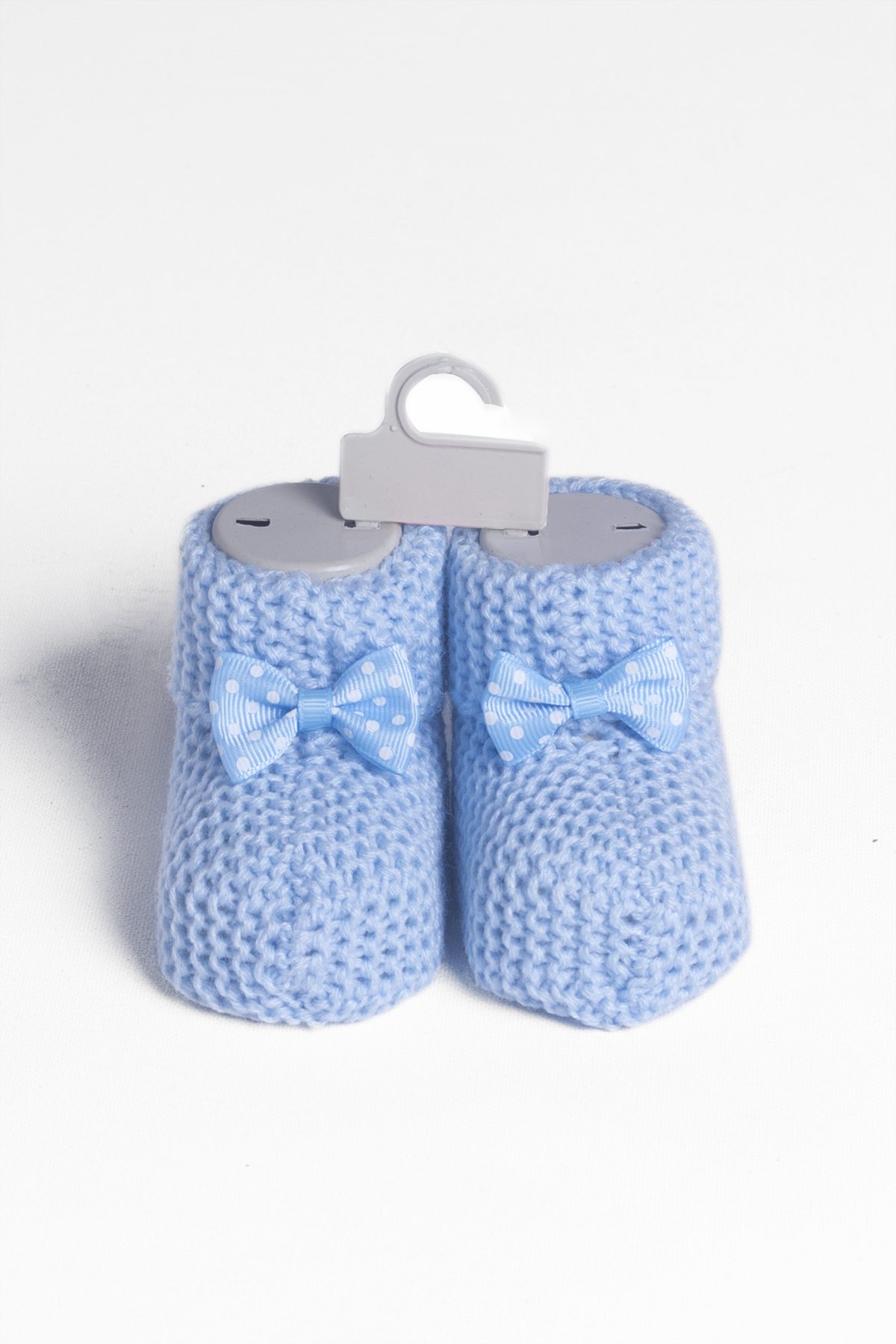 Baby Light Blue Bow Knitwear Booties