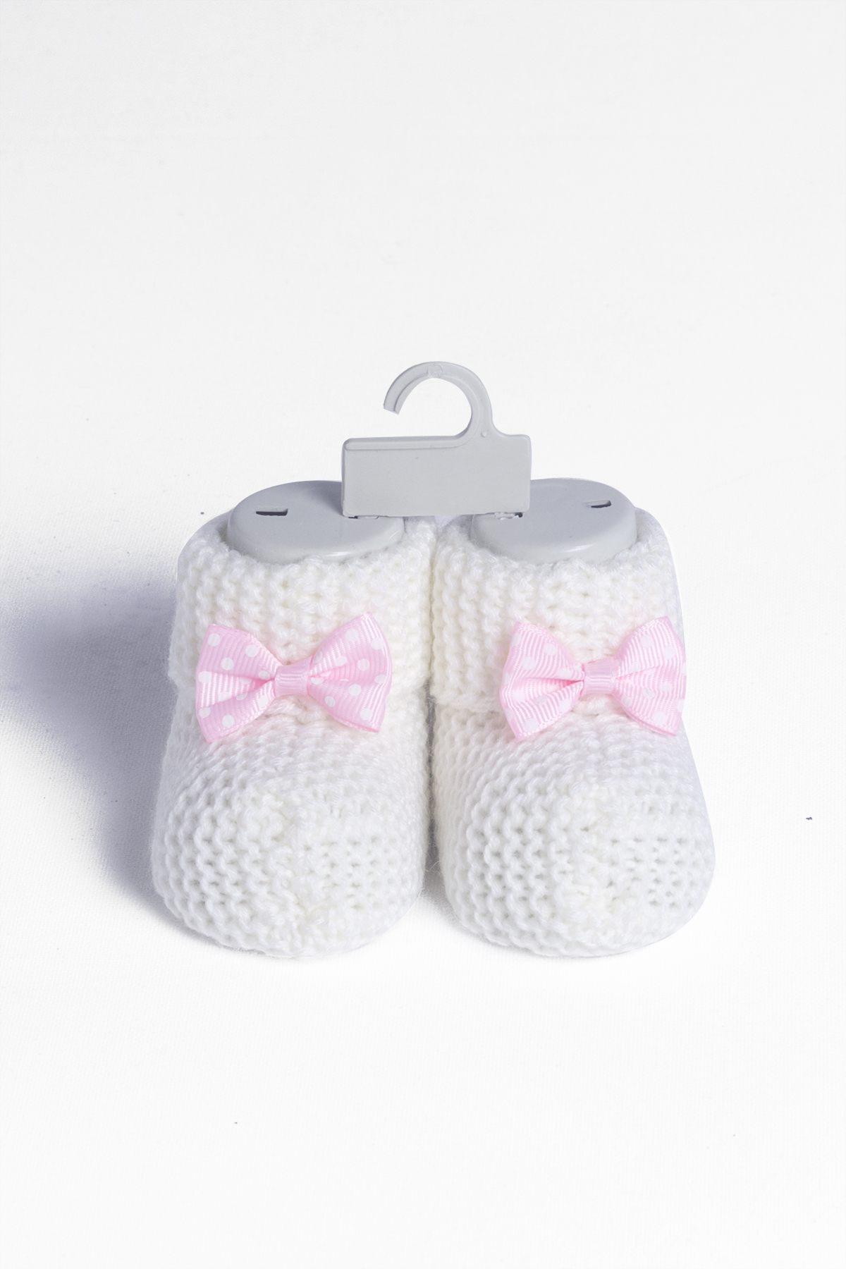Baby White Bow Knitwear Booties